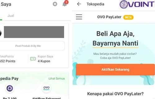 Cara Aktivasi OVO Paylater di Tokopedia
