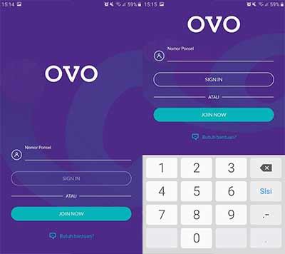 Masukkan Nomor OVO Terdaftar