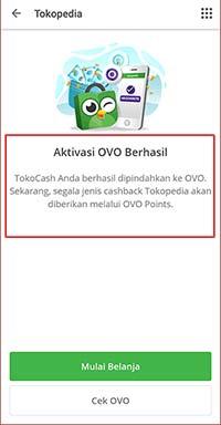 aktivasi OVO di Tokopedia