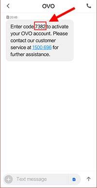 kode OTP lewat SMS