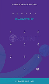 Masukkan security code