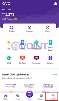 ke menu Profile