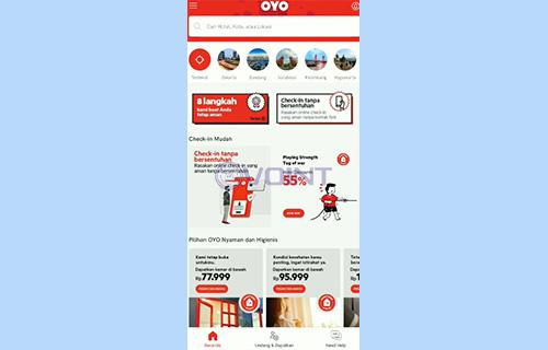 1 Buka Aplikasi OYO Hotel