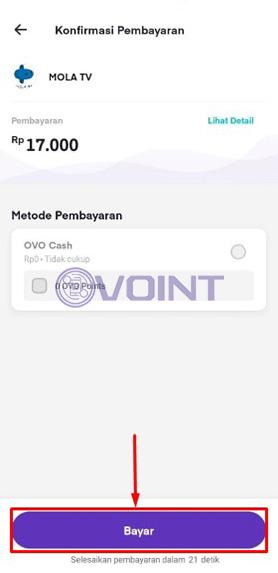 Lakukan Pembayaran Mola TV