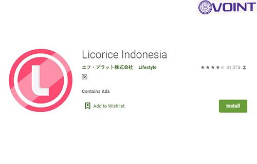 Aplikasi Penghasil Saldo OVO Licorice Indonesia