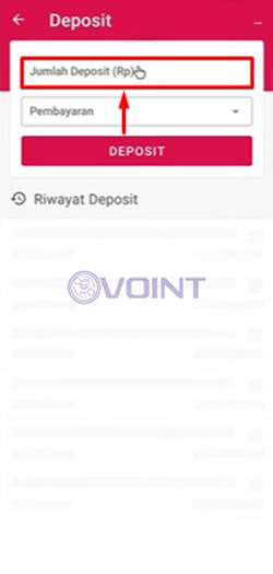 Masukkan Jumlah Deposit