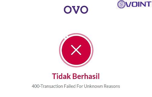 Penyebab Muncul OVO 400 Tidak Berhasil
