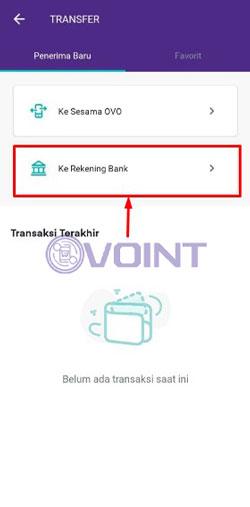 Pilih Transfer Ke Rekening Bank