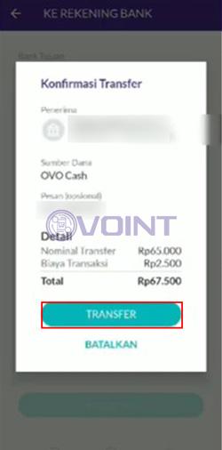 Konfirmasi Transfer OVO