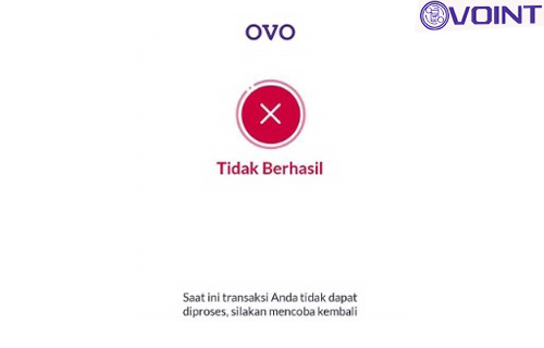 Penyebab Gagal Transfer OVO 1