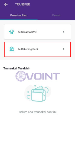 Transfer ke Rekening Bank