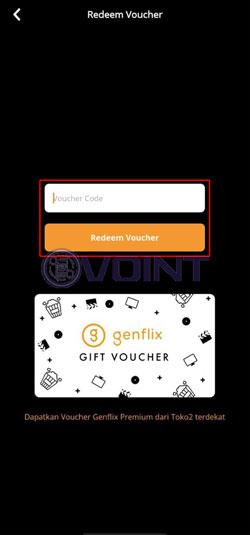 Masukkan Kode Voucher Berlangganan Genflix