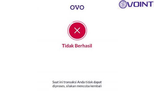 Penyebab Transfer OVO Gagal