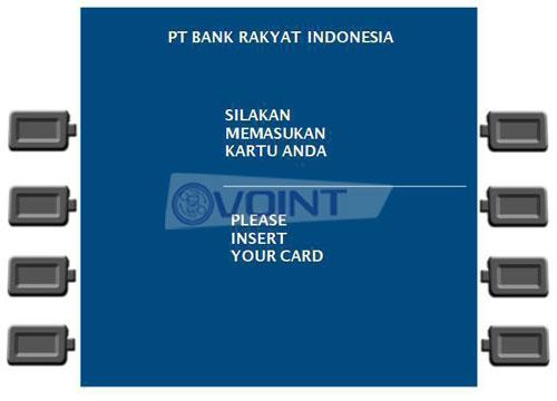1 Masukan Kartu ATM BRI