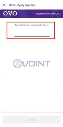 Masukkan PIN Aplikasi OVO