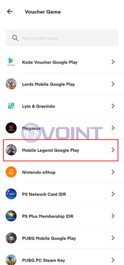Pilih Mobile Legends