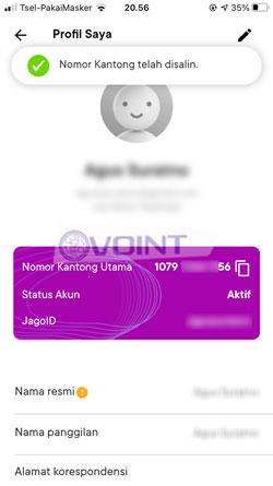 2 Copy Nomor Rekening Bank Jago