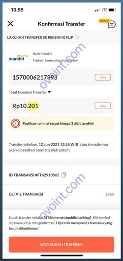Salin Kode Pembayaran