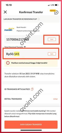 Salin Nomor Transaksi