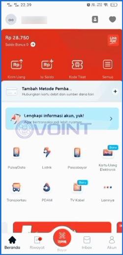 1 Masuk Aplikasi LinkAja