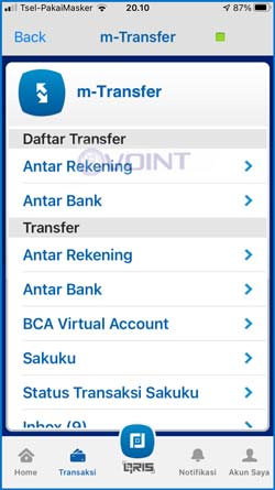 10 Pilih BCA Virtual Account