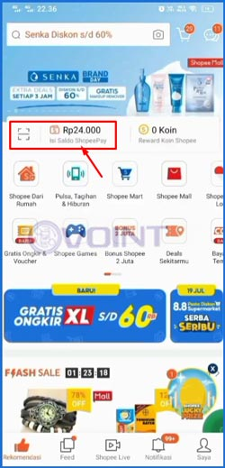 2 Klik ShopeePay
