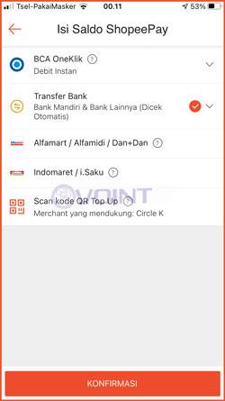 2 Pilih Transfer Bank