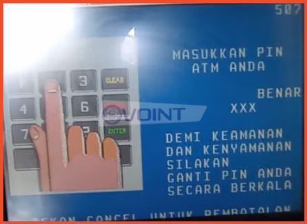 3 Masukkan PIN ATM BRI