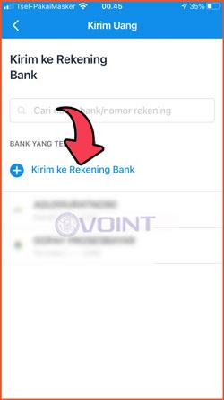 4 Pilih Kirim Ke Rekening Bank