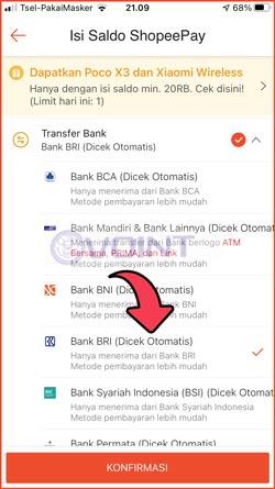 4 Pilih Transfer Bank BRI