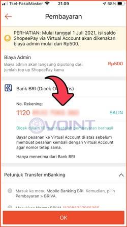 5 Kode Pembayaran Terlihat