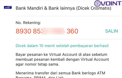 Contoh Nomor ShopeePay Bank