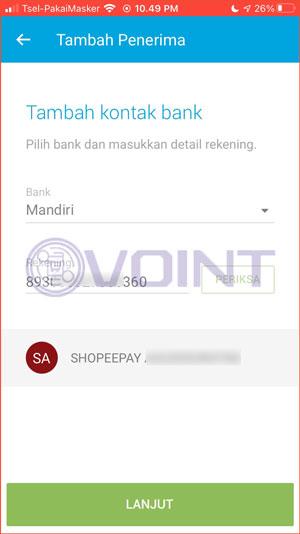Masukkan Nomor VA ShopeePay
