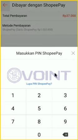 10 Masukkan PIN ShopeePay