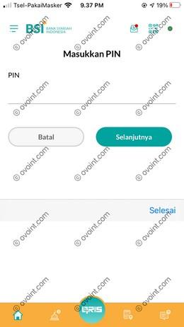 11 Masukkan PIN BSI Mobile