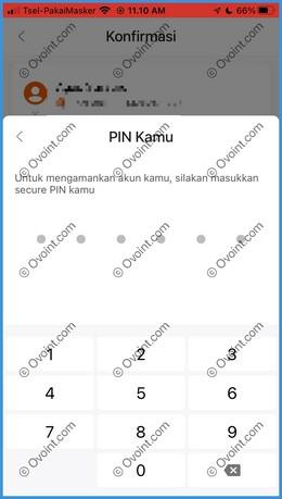 11 Masukkan PIN Transaksi SeaBank