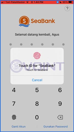 2 Masukkan Password Login 1