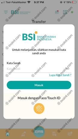 4 Masukkan Password BSI Mobile 1