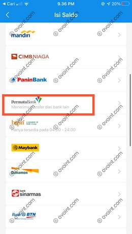 4 Pilih Bank Permata