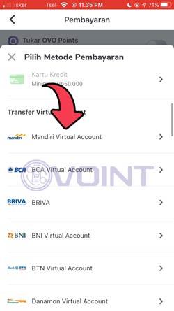 5 Pilih Mandiri Virtual Account
