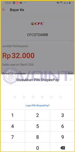6 Input PIN ShopeePay