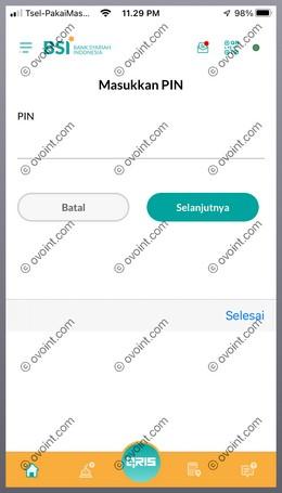 7 Masukkan PIN BSI Mobile