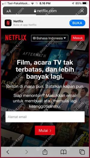 1 Buka Situs Netflix