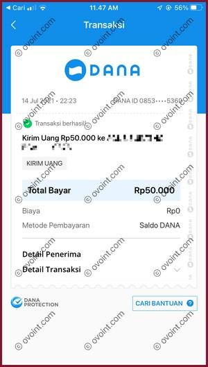 13 Transfer Saldo DANA ke Bank Syariah Indonesia Berhasil