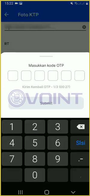 8 Masukkan Kode OTP
