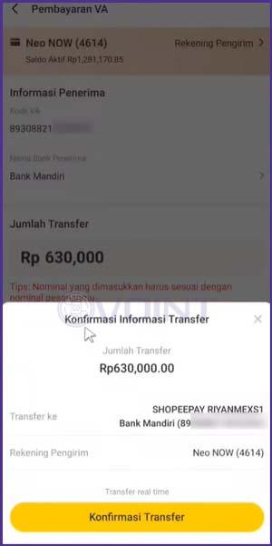 11 Konfirmasi Transfer