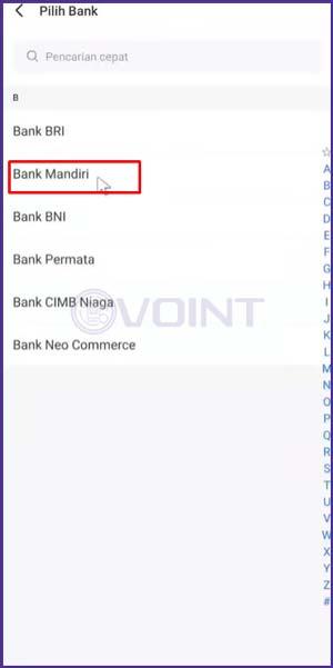 9 Pilih Bank Mandiri