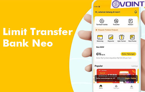 Limit Transfer Bank Neo ke DANA