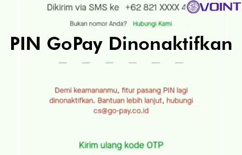 PIN GoPay Dinonaktifkan dari Penyebab Cara Mengatasi